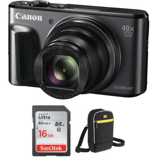 Canon PowerShot SX720 HS Digital Camera with Accessories Kit