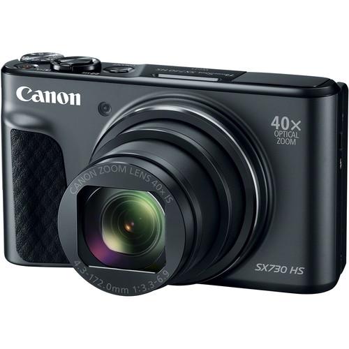 Canon PowerShot SX730 HS Digital Camera Basic Kit (Black)