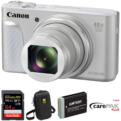 Canon PowerShot SX730 HS Digital Camera Deluxe Kit (Silver)