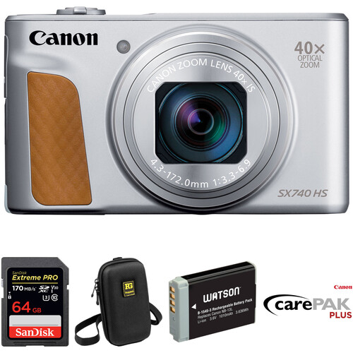 Canon PowerShot SX740 HS Digital Camera Deluxe Kit (Silver)