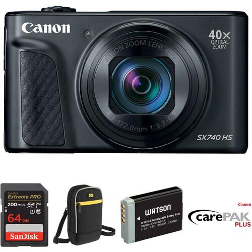 Canon PowerShot SX740 HS Digital Camera Deluxe Kit (Black)