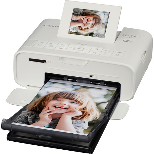 Canon SELPHY CP1200 Wireless Compact Photo Printer with RP-108 Postcard Paper & Ink Kit (White)