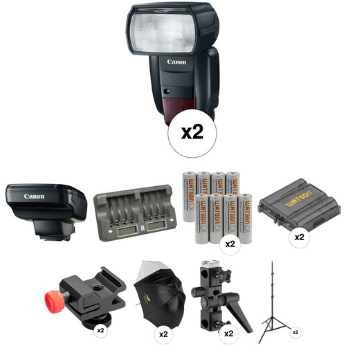 Canon Speedlite 600EX II-RT Wireless Two Flash Portrait Kit