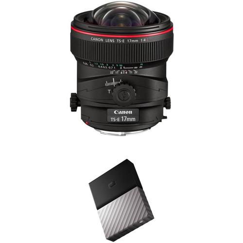 Canon TS-E 17mm f/4L Tilt-Shift Lens with External Hard Drive Kit