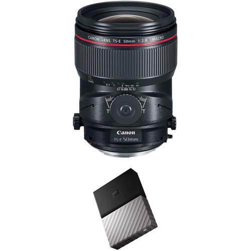 Canon TS-E 50mm f/2.8L Macro Tilt-Shift Lens with External Hard Drive Kit