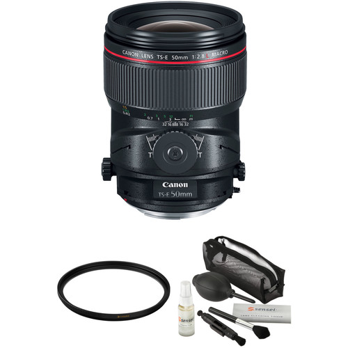 Canon TS-E 50mm f/2.8L Macro Tilt-Shift Lens with Accessories Kit
