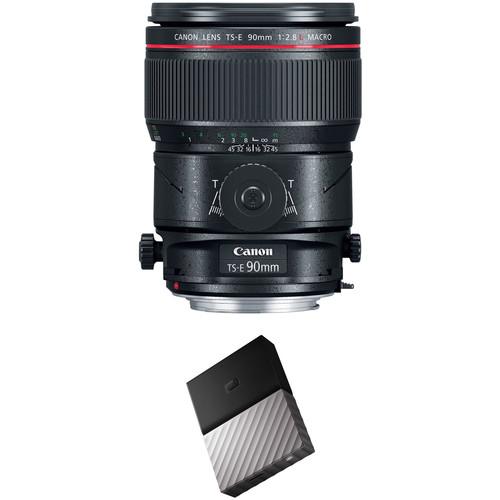 Canon TS-E 90mm f/2.8L Macro Tilt-Shift Lens with External Hard Drive Kit
