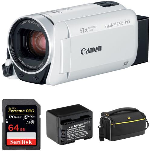 Canon VIXIA HF R800 HD Camcorder Basic Kit (White)