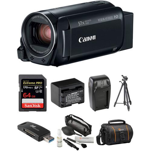 Canon VIXIA HF R800 HD Camcorder Deluxe Kit (Black)