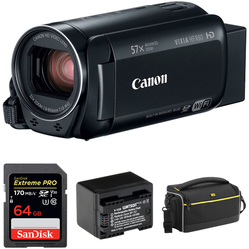 Canon VIXIA HF R80 HD Camcorder Basic Kit (Black)