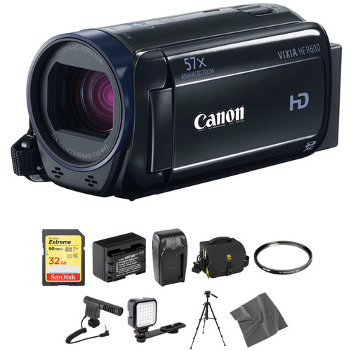Canon Vixia HFR600 HD Camcorder Deluxe Kit