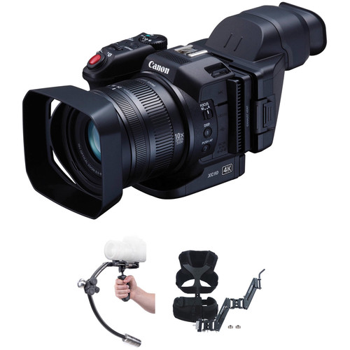 Canon XC10 Camera with Steadicam Merlin Stabilizer and Vest Kit