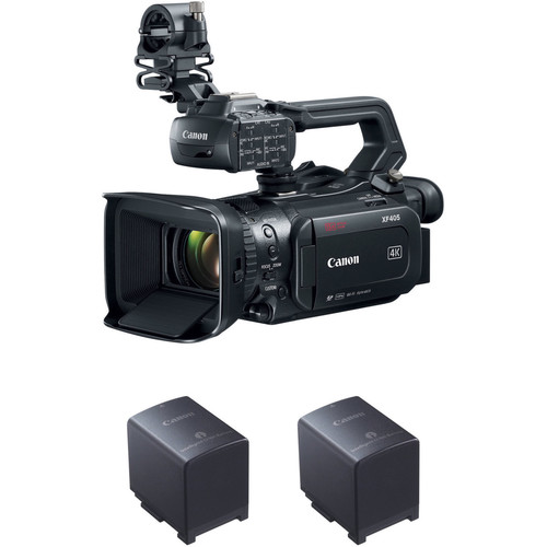 Canon XF405 Camcorder with 3 x BP-828 Batteries