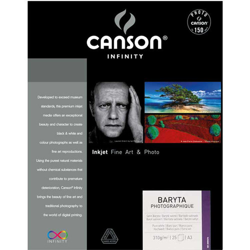 """Canson Infinity Baryta Photographique Paper (13 x 19"""", 25 Sheets)"""