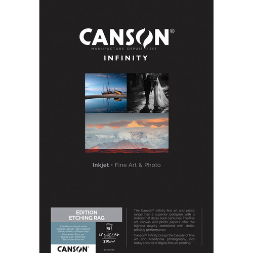 """Canson Infinity Edition Etching Rag Paper (13 x 19"""", 25 Sheets)"""