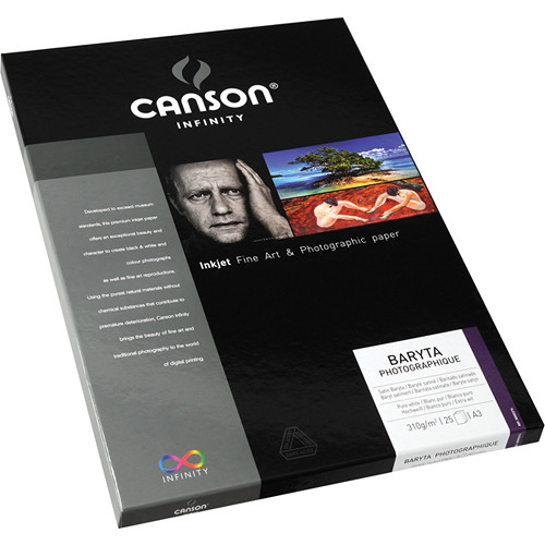 "Canson Infinity Baryta Photographique Paper (A3 11.7 x 16.5"", 25 Sheets)"