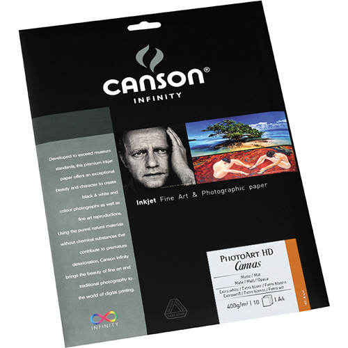 "Canson Infinity PhotoArt HD Canvas Inkjet Paper (8.5 x 11"", 10 Sheets)"