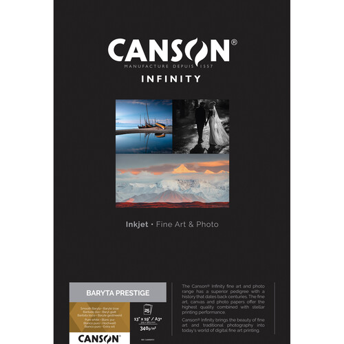 "Canson Infinity Baryta Prestige Printer Paper (25 Sheets, 13 x 19"")"