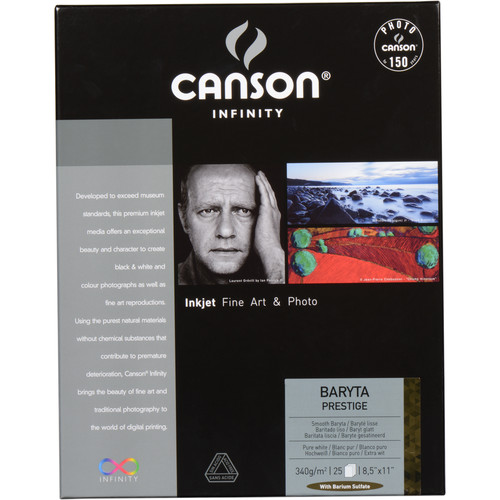 "Canson Infinity Baryta Prestige Printer Paper (25 Sheets, 8.5 x 11"")"