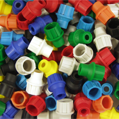 Cap America CaP Push-On Connector (Assorted Colors, 100-Pack)