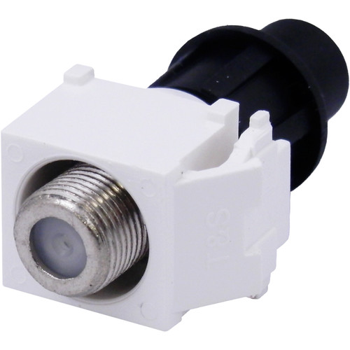 Cap America Keystone F Connector with CaP (White, 10-Pack)