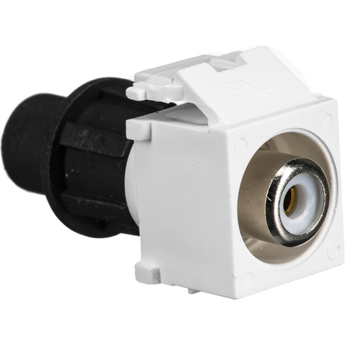 Cap America Keystone RCA Connector with CaP (White, 10-Pack)