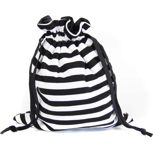 Capturing Couture Protective Tote Bag for DSLR Camera Body (Stripe Black)