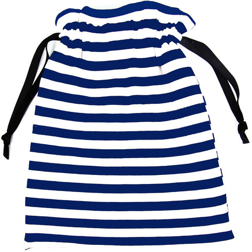 Capturing Couture Protective Tote Bag for DSLR Camera Body (Stripe Navy)