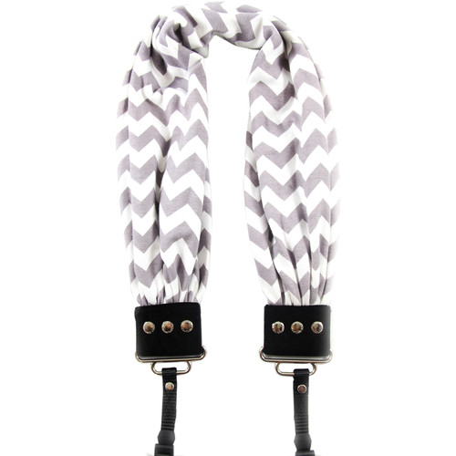 Capturing Couture Scarf Camera Strap (Gray & White Chevron)