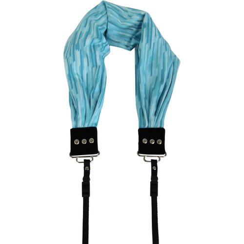 Capturing Couture Raffia Scarf Camera Strap (Turquoise)