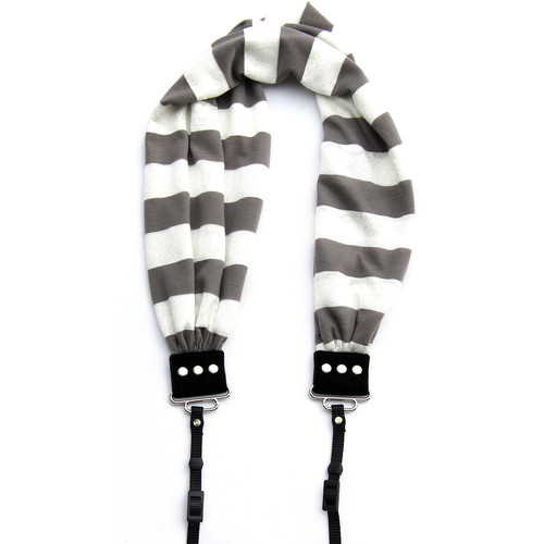 Capturing Couture Striped Scarf Camera Strap (Gray)