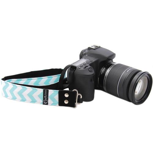 "Capturing Couture Chevron 1.5"" Camera Strap (Aqua)"