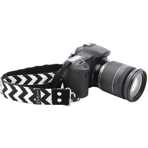 """Capturing Couture Chevron 1.5"""" Camera Strap (Black)"""