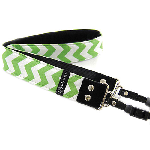 "Capturing Couture Chevron 1.5"" Camera Strap (Green)"