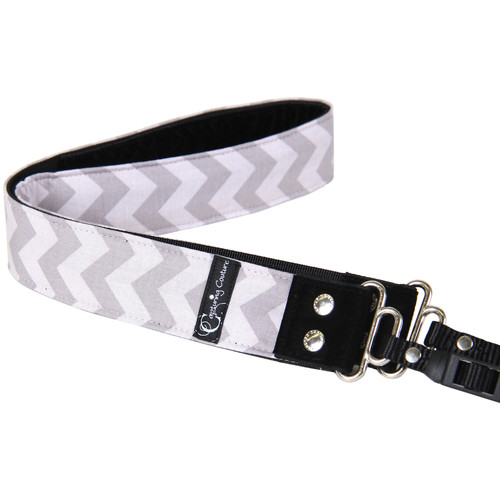 "Capturing Couture Chevron 1.5"" Camera Strap (Gray)"