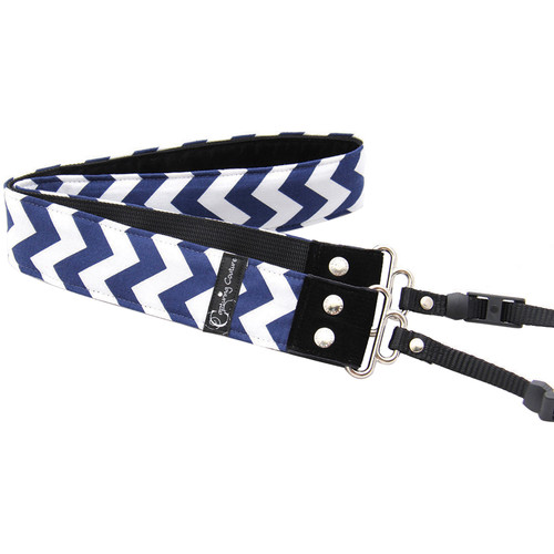 "Capturing Couture Chevron 1.5"" Camera Strap (Navy)"