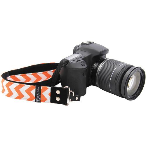 """Capturing Couture Chevron 1.5"""" Camera Strap (Orange)"""