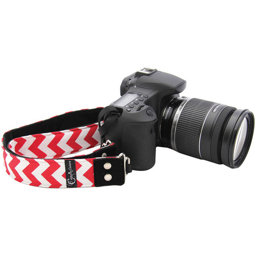 "Capturing Couture Chevron 1.5"" Camera Strap (Red)"