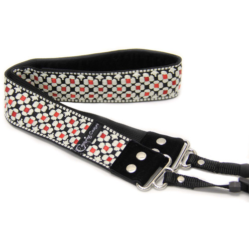 """Capturing Couture Designer Collection 1.5"""" Camera Strap (Daisy Dot Red)"""
