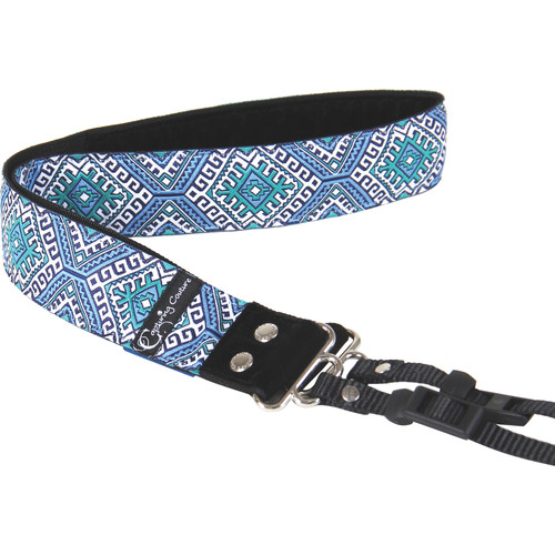 "Capturing Couture Designer Collection 1.5"" Camera Strap (Moroccan Sea)"