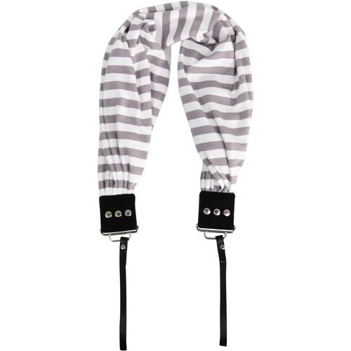 Capturing Couture Pocket Scarf Camera Strap (Stripe Gray)