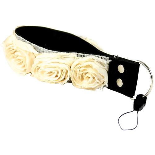 "Capturing Couture Organza Collection: 1.5"" Wristlet Camera Strap (Cream)"