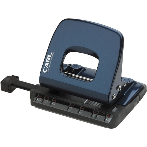 Carl ALYSIS 2-Hole, 18-Sheet Paper Punch (Blue)