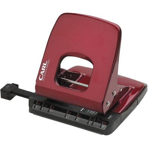 Carl ALYSIS 2-Hole, 32 Sheet Paper Punch (Red)