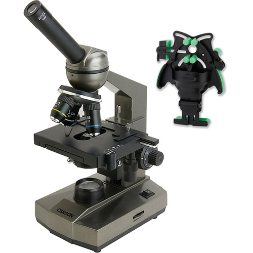 Carson MS-100UN Biological Monocular Microscope Kit (110-240V)