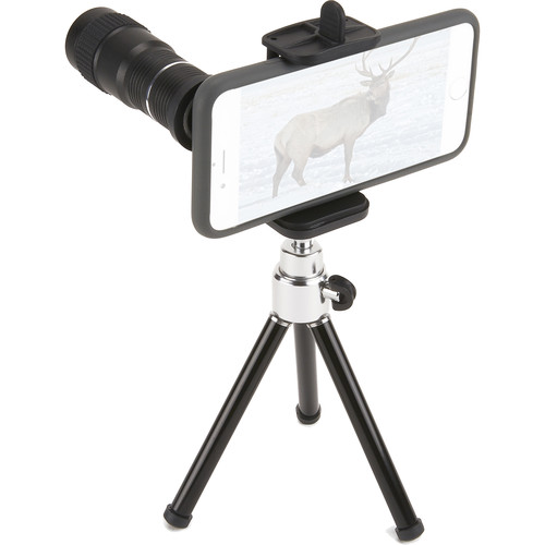 Carson HookUpz Smartphone Telephoto Lens Adapter and Tripod