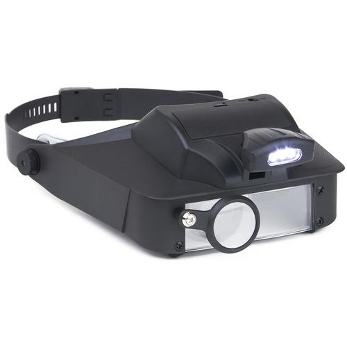 Carson LV-10 LumiVisor 2x, 3x, 5x, 6x Head-Worn Magnifier with LED Light