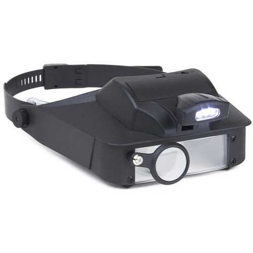 Carson LV-10 LumiVisor 2x, 3x, 5x, 6x Head-Worn Magnifier with LED Light