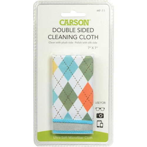 "Carson Double Sided Cleaning Cloth - 7 x 7"" (Spring Argyle)"