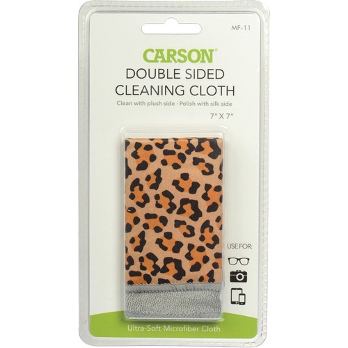 "Carson Double Sided Cleaning Cloth - 7 x 7"" (Safari Leopard)"
